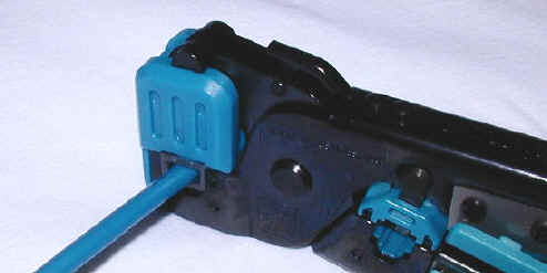 using a crimping tool