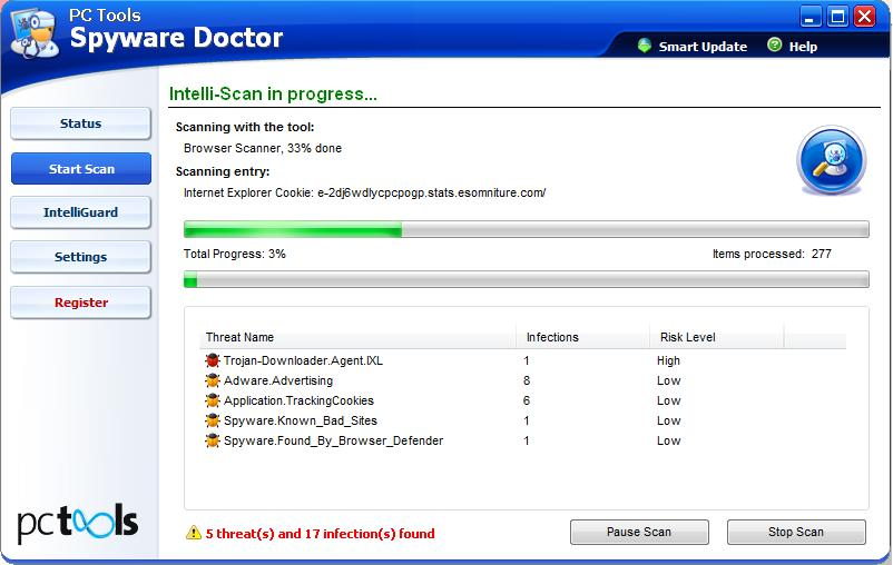 Spyware Doctor Scan